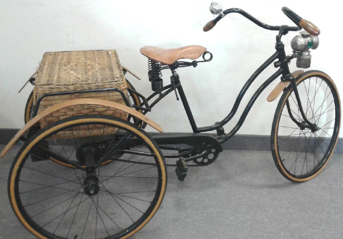 Adult tricycle restored in the 1960's with antique