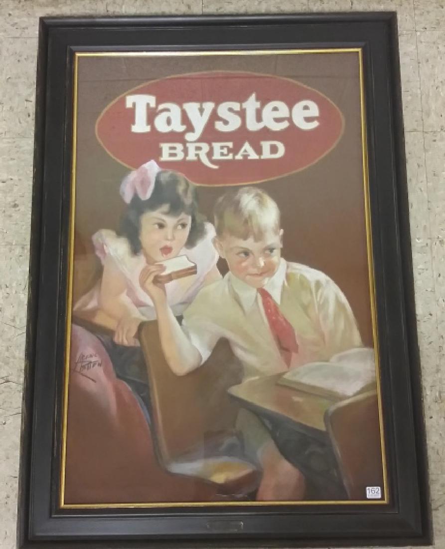 Framed original Irene Patten pastel advertising Taystee