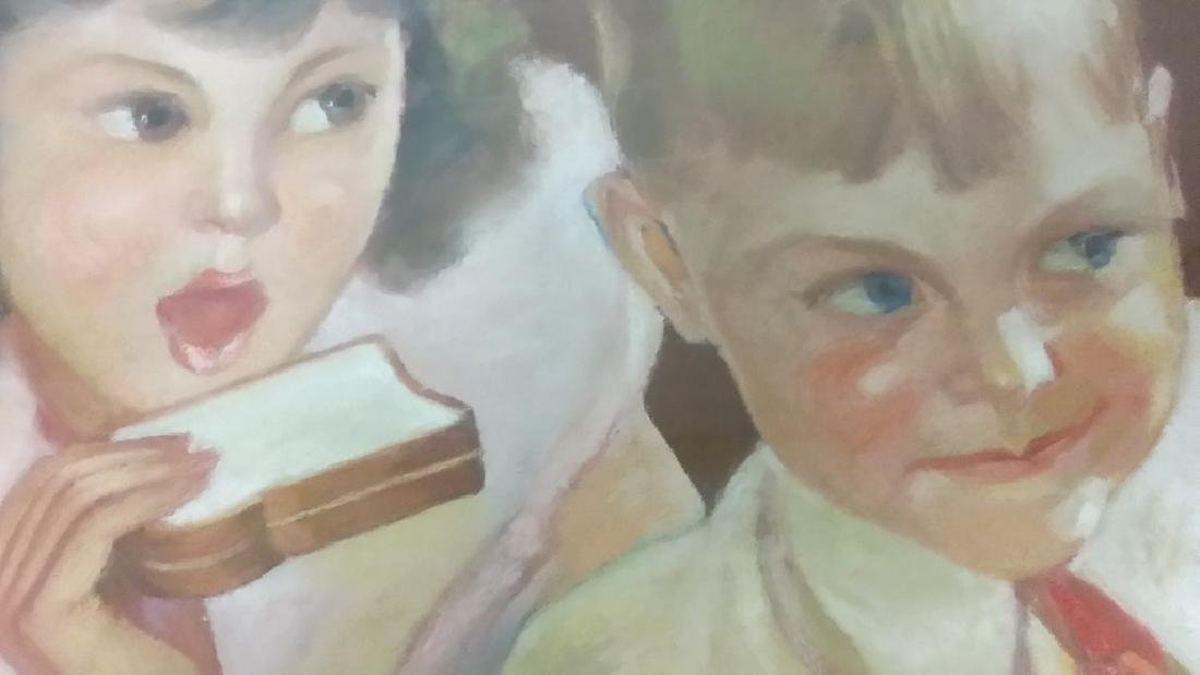 Framed original Irene Patten pastel advertising Taystee - 7