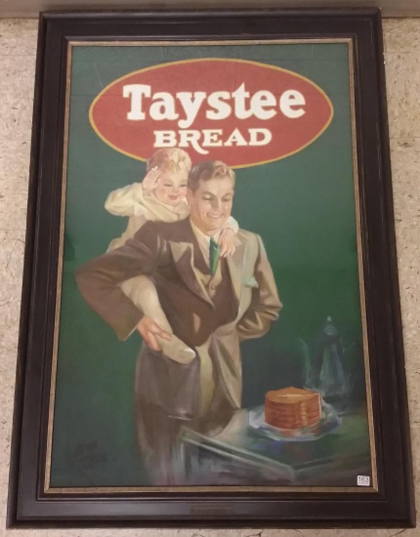 Framed original Irene Patten pastel advertising Taystee