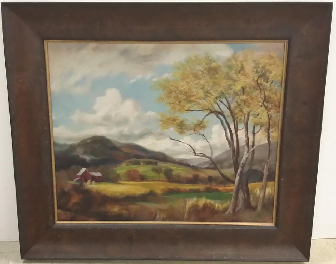 Framed signed Dean (William) Fausett oil on board-
