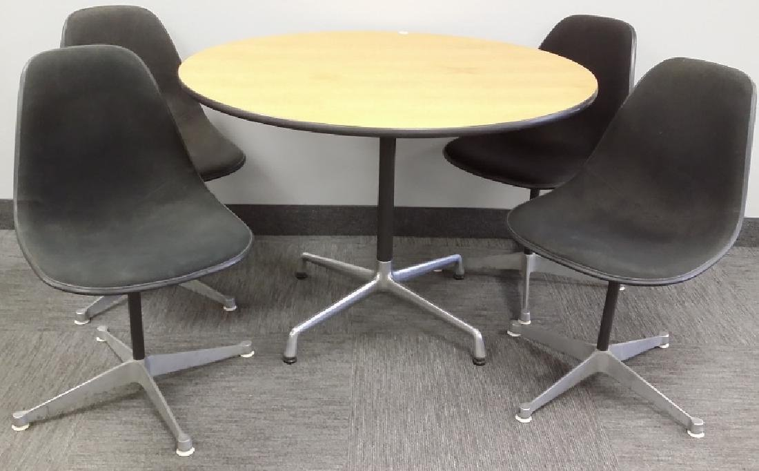 Signed Herman Miller set of 4 chairs & a Herman Miller