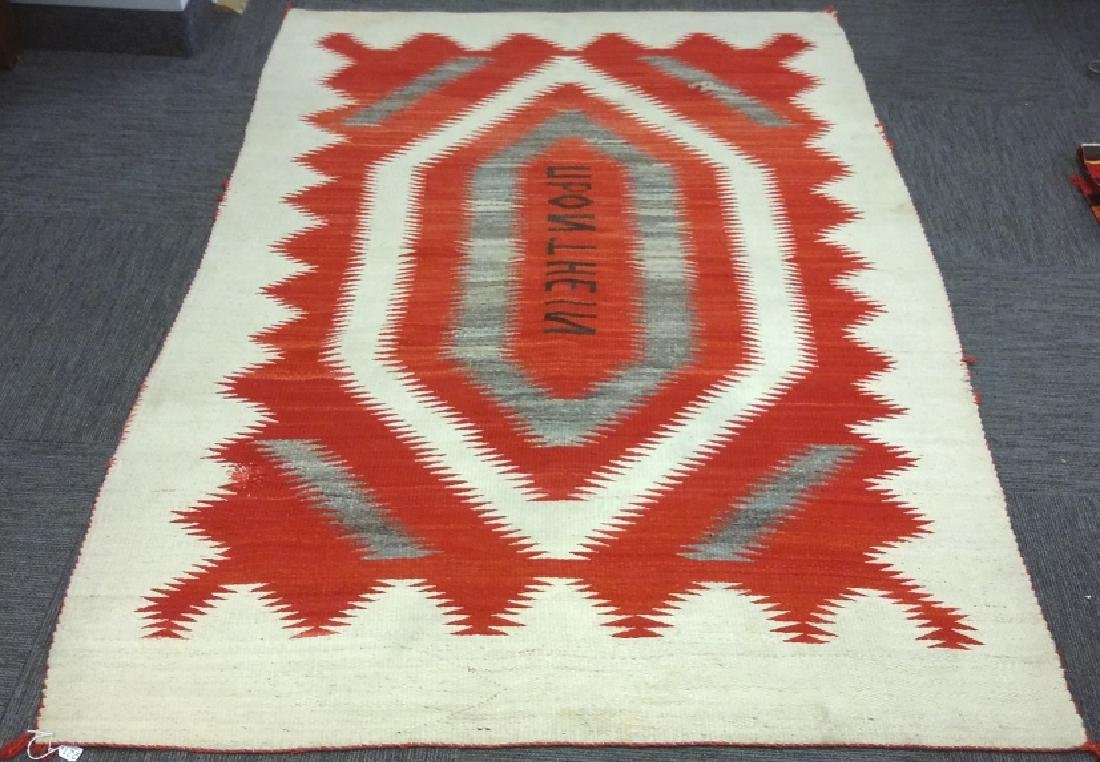 Vintage Navajo rug with letters- eye dazzler upon the
