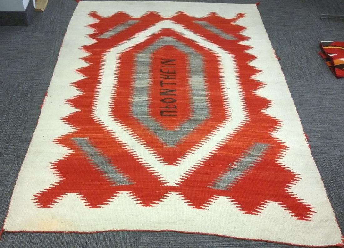 Vintage Navajo rug with letters- eye dazzler upon the - 2
