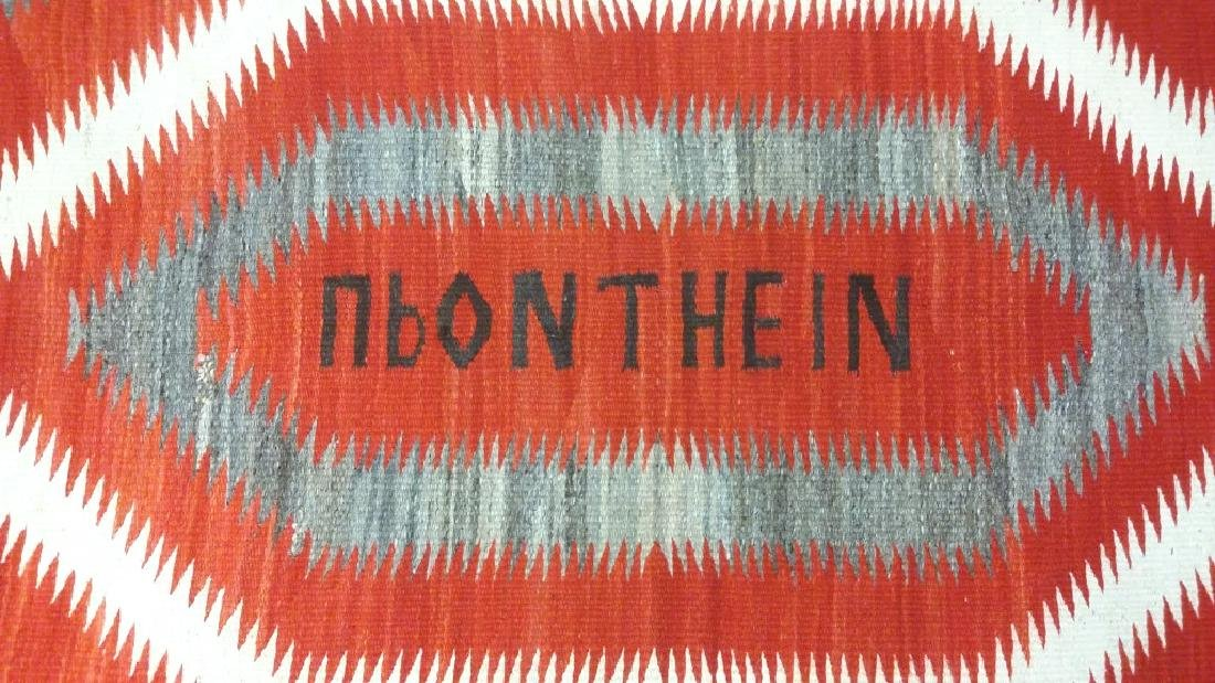 Vintage Navajo rug with letters- eye dazzler upon the - 3