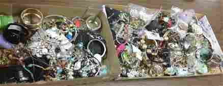 Large group of costume jewelry some signed
