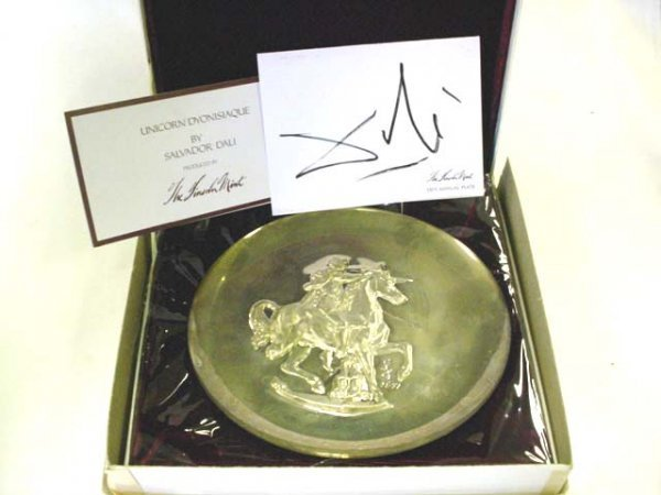 219: 1971 Salvador Dali sterling collector's plate