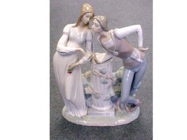 221: 18 inch Lladro Romeo & Juliet figure (sword broken