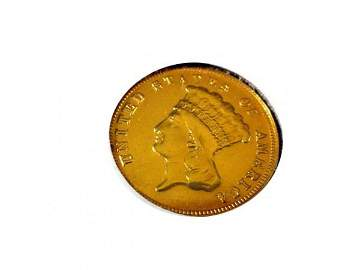 247: 1878 $3 Liberty gold coin NOT GRADED