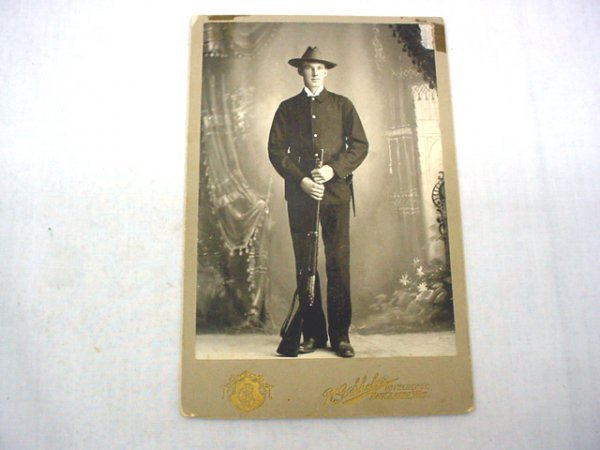 1018: Spanish American CDV soldier photo, Eau Claire, W