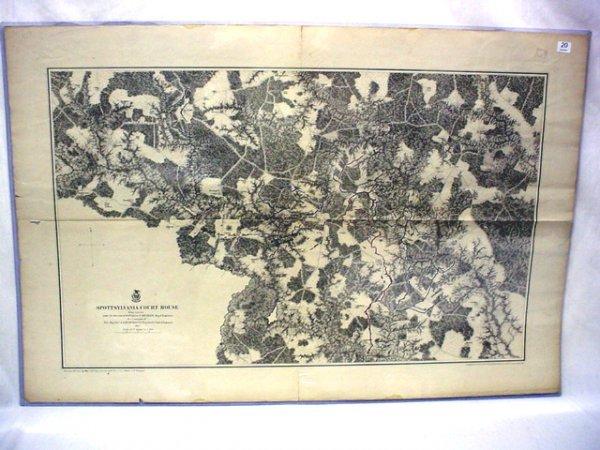 1020: 1867 engineers map- Battlefield of Spottsylvania