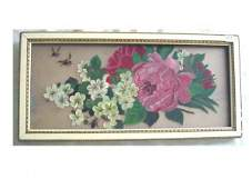 1207 Victorian floral still life painting on glass 8
