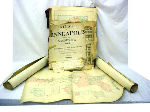 1248: Group of paper items- Minnesota maps, etc…lot