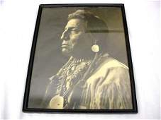 """1454: 2 framed Great Northern Indian photos 11""""x 14"""" wi"""