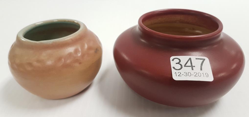 2 UND (North Dakota School of Mines) small vases