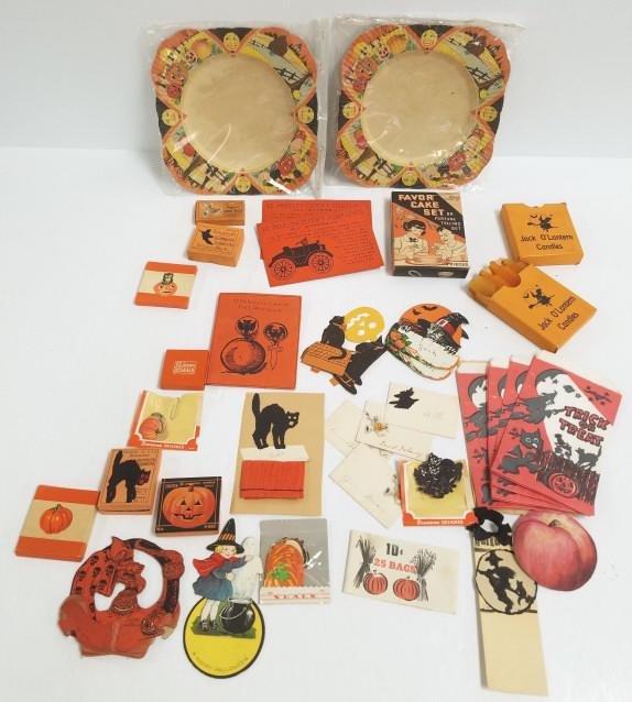 Group of vintage paper seals, decorations, etc.