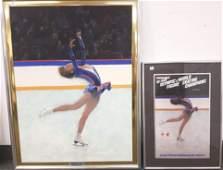 FramedR. Heindel signed oil on board 1989 Debbie Thomas