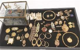 Group antique etc. gold filled jewelry including