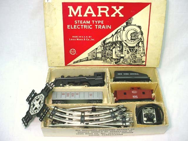 9: Electric train set, steam type