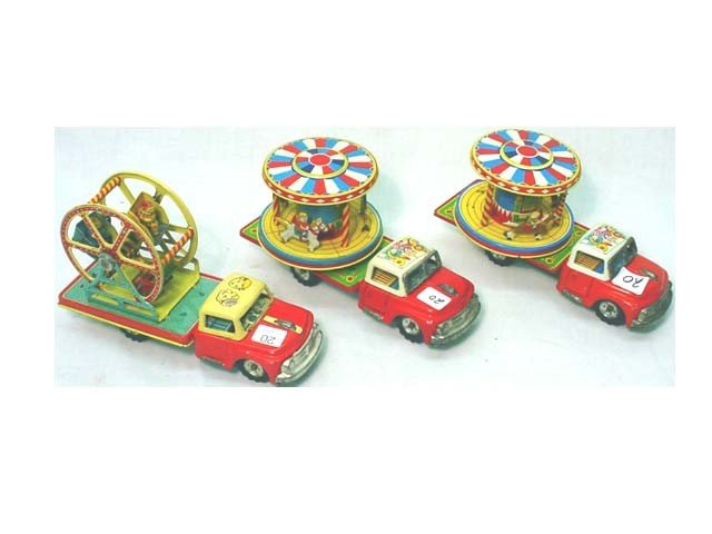 20: 3 circus truck friction toys…x3