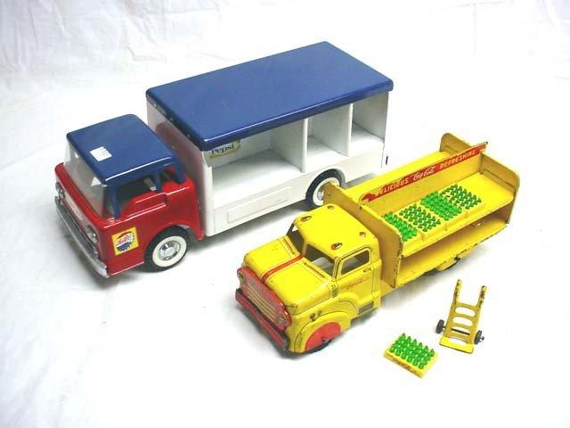 110: Nylint Pepsi truck & Marx Coke truck…lot