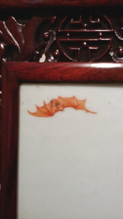 """Framed Chinese carved framed antique plaque- 10""""x 15"""" - 3"""