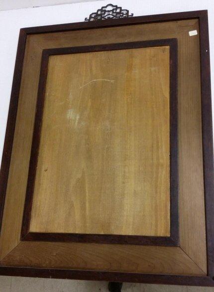 "Framed antique Chinese porcelain plaque- 13""x 18"" - 7"