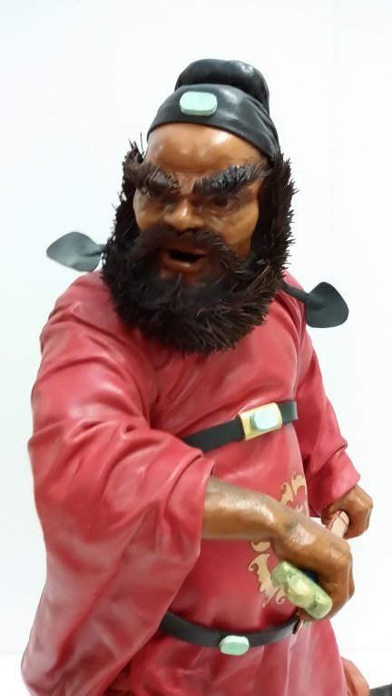 """20"""" signed leather sculpture 2/50- Chung Kuei - 2"""