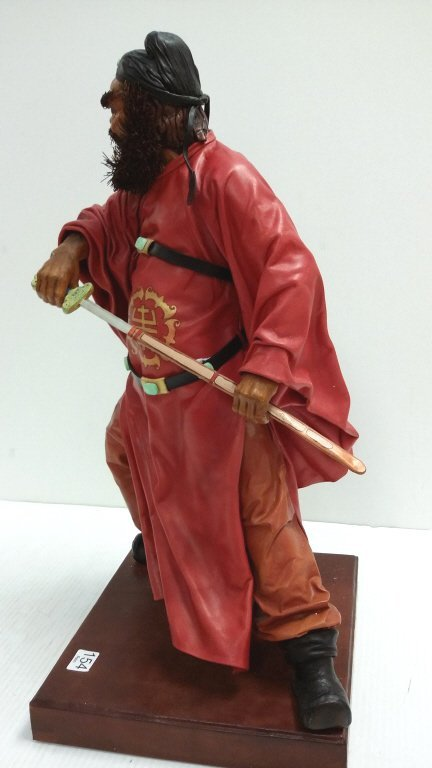 """20"""" signed leather sculpture 2/50- Chung Kuei - 5"""
