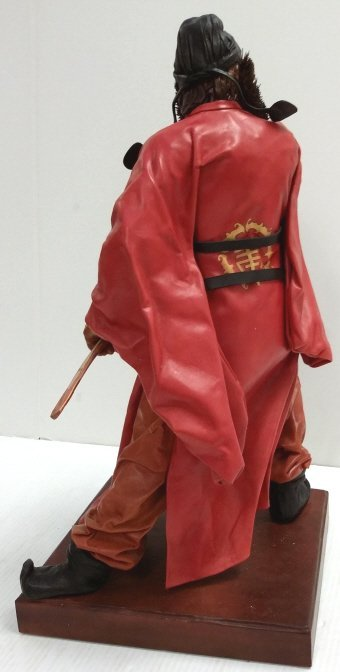 """20"""" signed leather sculpture 2/50- Chung Kuei - 6"""
