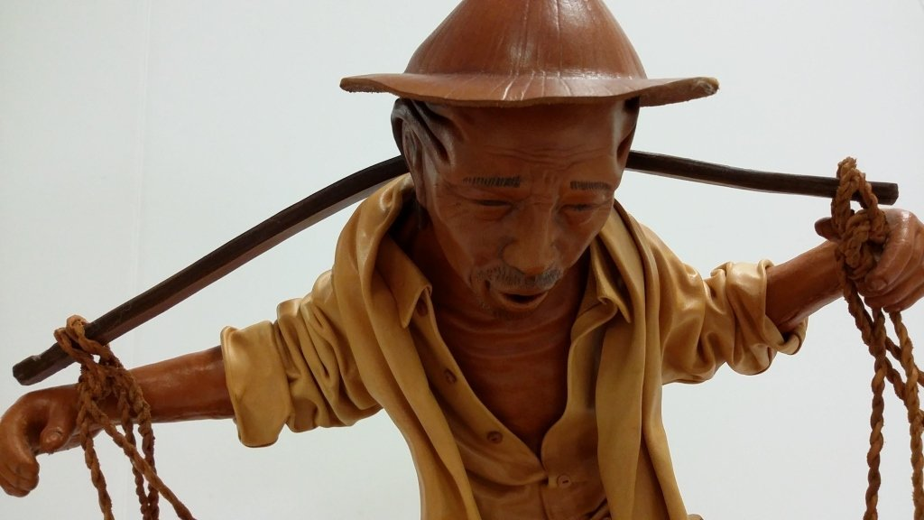 "16""x 15"" signed leather sculpture 18/50- The Bearer - 3"