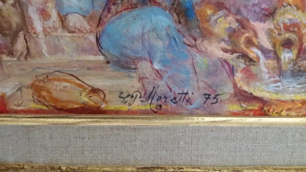 Framed signed Lucien Phillipe Moretti oil on canvas- - 6