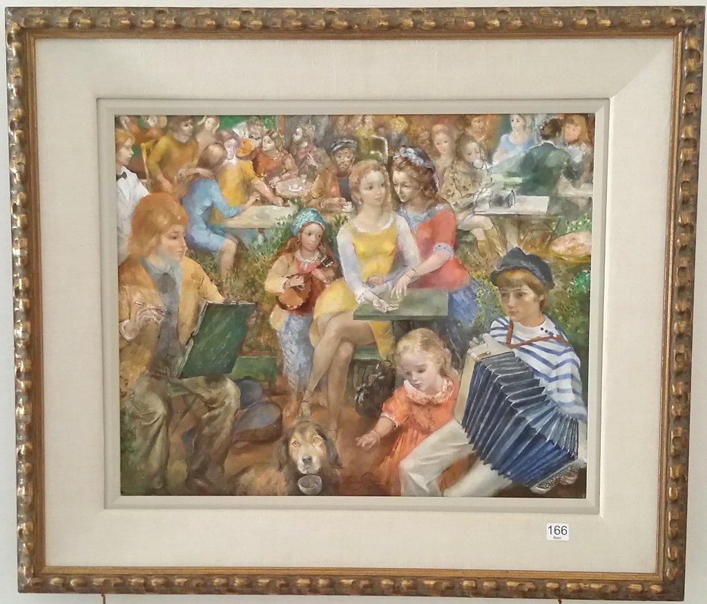 Framed signed Lucien Phillipe Moretti oil on canvas-
