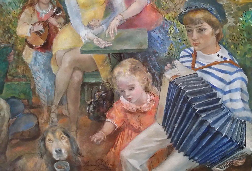 Framed signed Lucien Phillipe Moretti oil on canvas- - 2