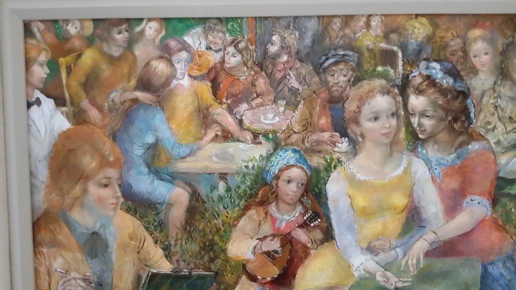 Framed signed Lucien Phillipe Moretti oil on canvas- - 4
