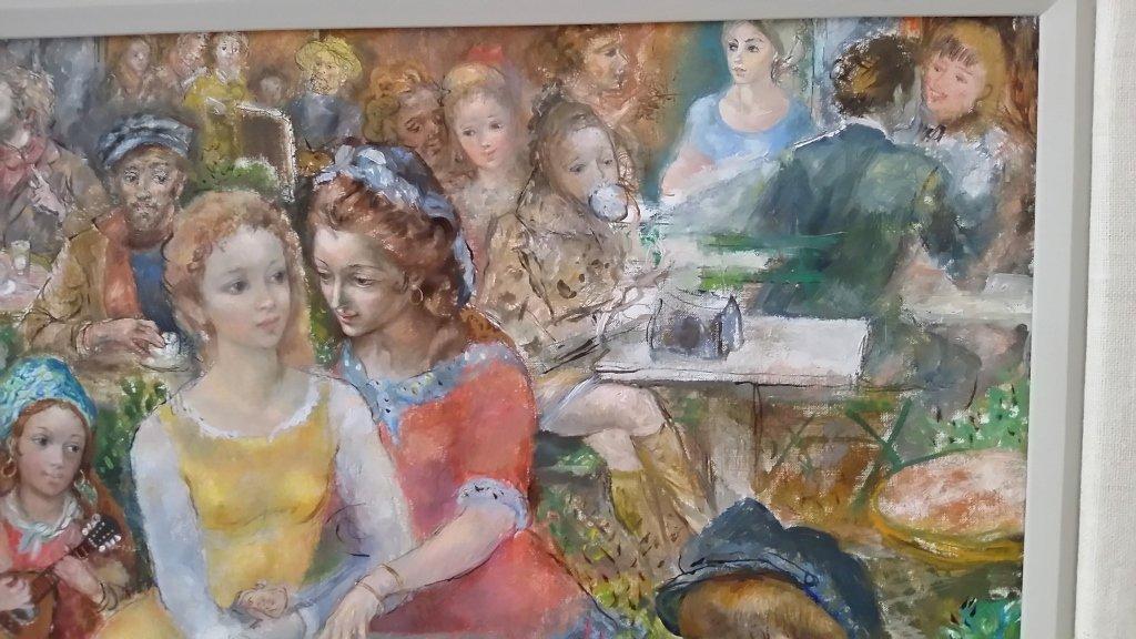 Framed signed Lucien Phillipe Moretti oil on canvas- - 5