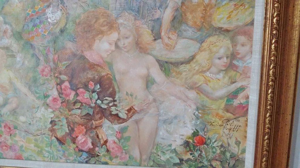 Framed signed Lucien Phillipe Moretti oil on canvas- - 7