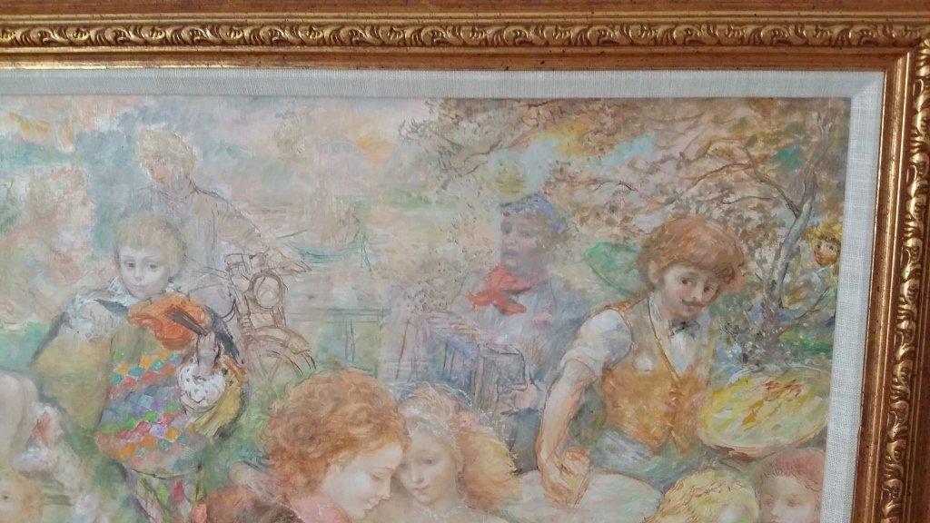 Framed signed Lucien Phillipe Moretti oil on canvas- - 8