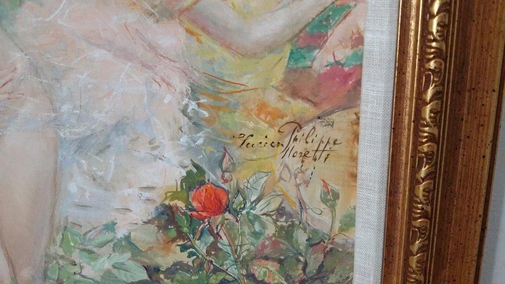 Framed signed Lucien Phillipe Moretti oil on canvas- - 9