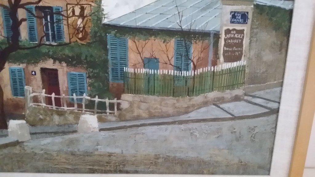Framed signed Andrew Renoux oil on canvas- street scene - 2
