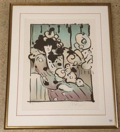 "Framed signed Max (Peter) 99/ 200 litho 21""x 27"""