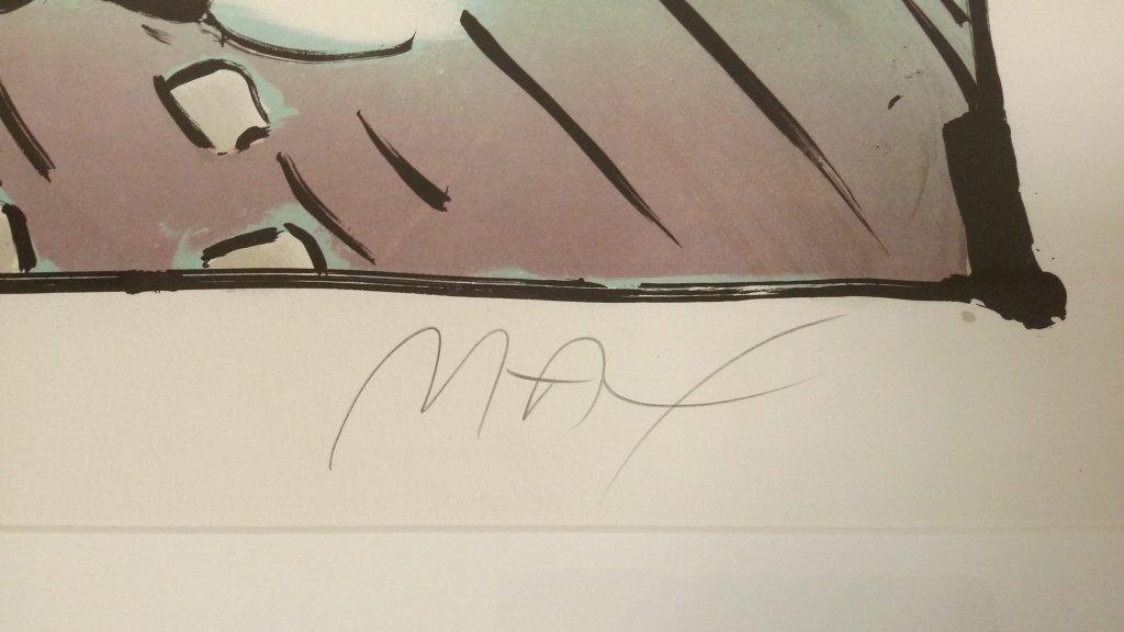 "Framed signed Max (Peter) 99/ 200 litho 21""x 27"" - 5"