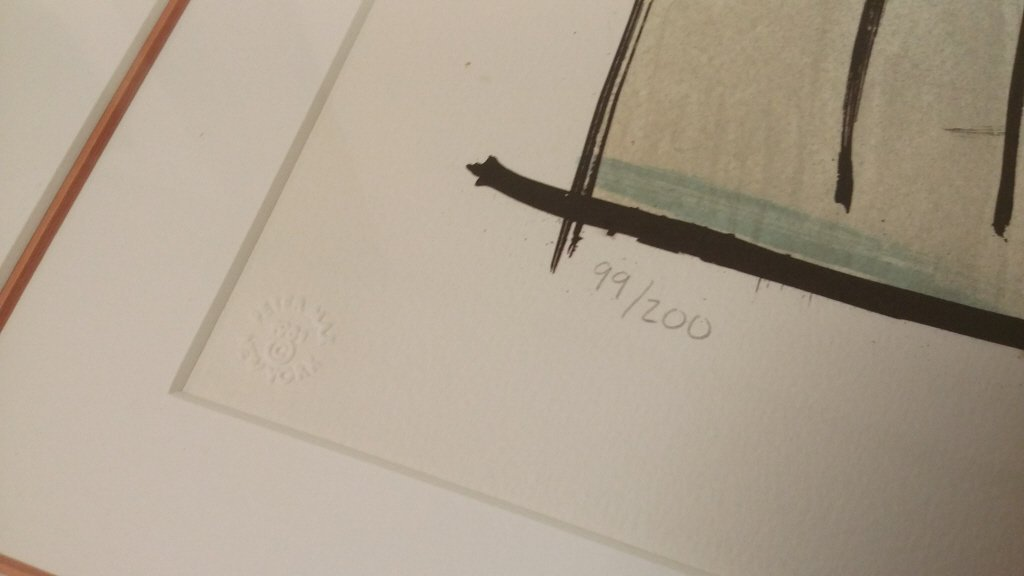 "Framed signed Max (Peter) 99/ 200 litho 21""x 27"" - 6"
