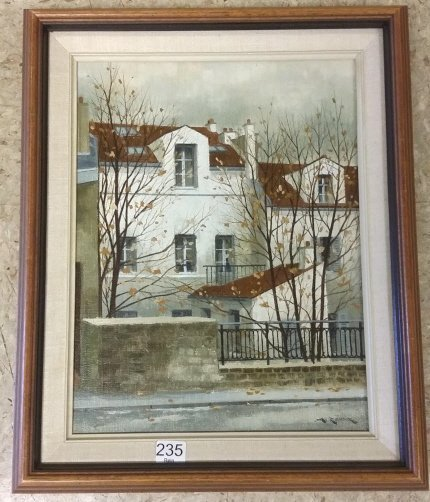 "Framed signed A. Renoux (Andre) oil on canvas- 10 1/2""x"