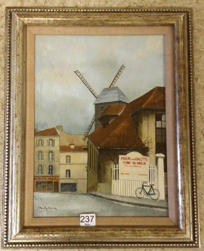 """Framed signed A. Renoux (Andre) oil on canvas- 10""""x 13"""