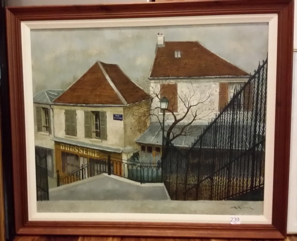"""Framed signed A. Renoux (Andre) oil on canvas- 20""""x 24"""""""