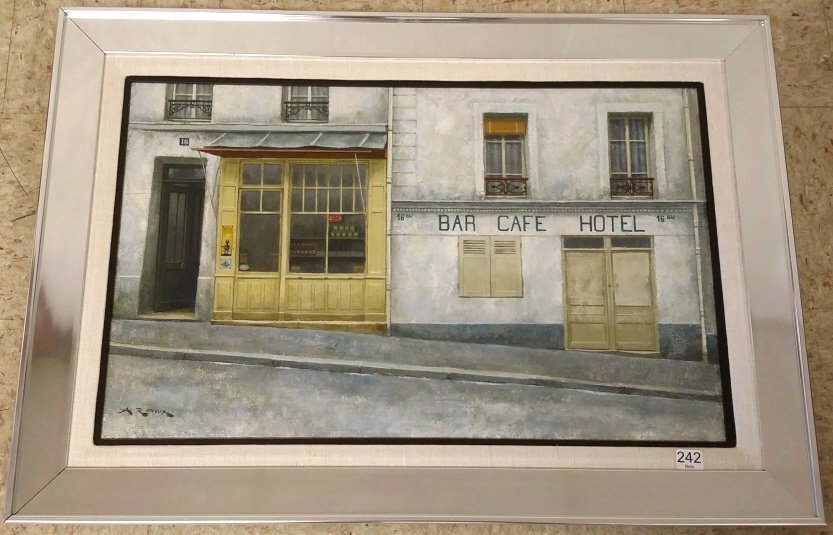 """Framed signed A. Renoux (Andre) oil on canvas- 16""""x 24"""""""