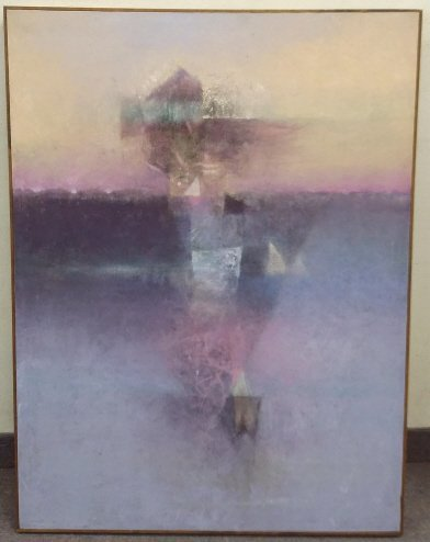 Framed signed John Gary Brown oil on canvas- Amalfi