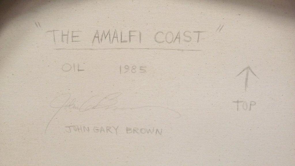 Framed signed John Gary Brown oil on canvas- Amalfi - 4