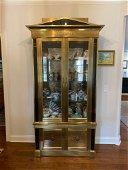 Impressive Asian Inspired Brass Vitrine Display Cabinet